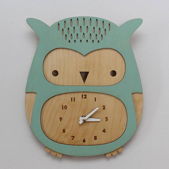 Детские часы в виде совы