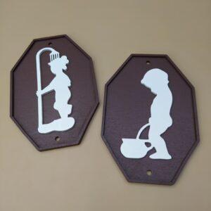 Таблички для туалета и ванной