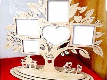 Рамка с сердцем в виде дерево