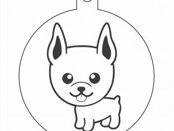 Подвесная игрушка собаки с высунутым языком