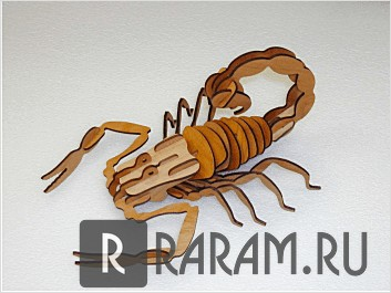 Скорпион в 3D