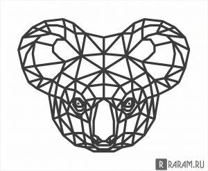 Геометрическая голова коалы