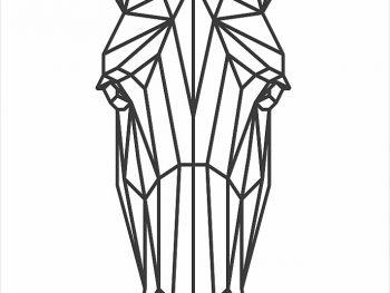 Геометрическая лошадь (вид спереди)