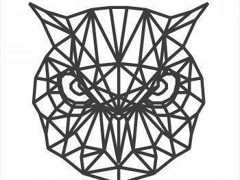 Геометрическая голова совы