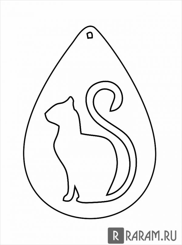 Серьги с котом