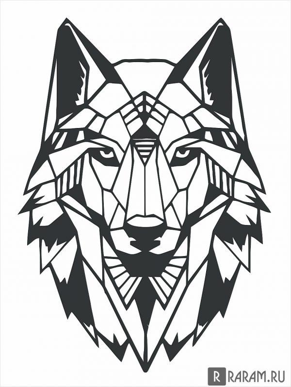 Геометрическая морда волка
