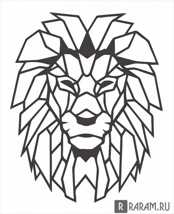 Геометрическая голова льва