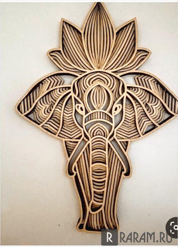 Слон на стену