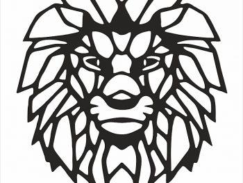 Голова льва (вид спереди)
