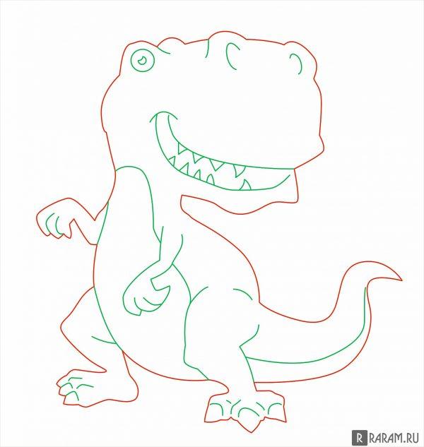 Тираннозавр рекс из мультфильма