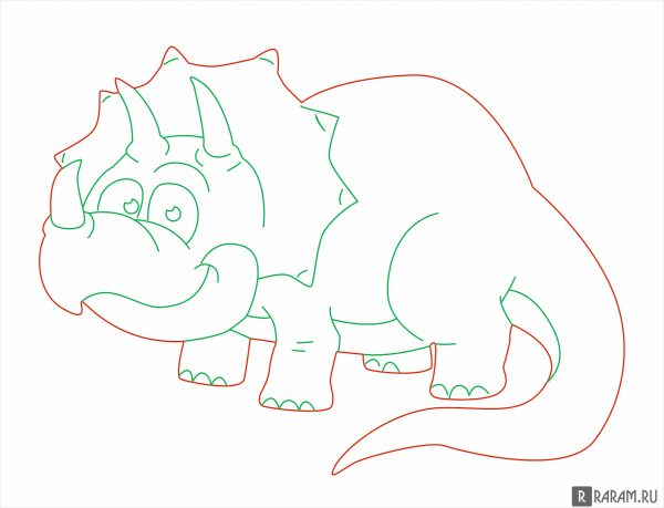 Трицератоп из мультфильма