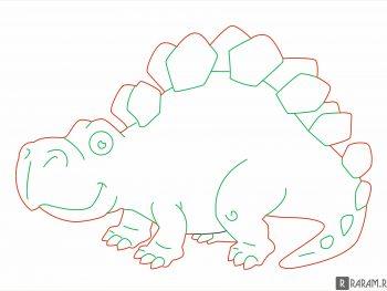 Стегозавр из мультфильма