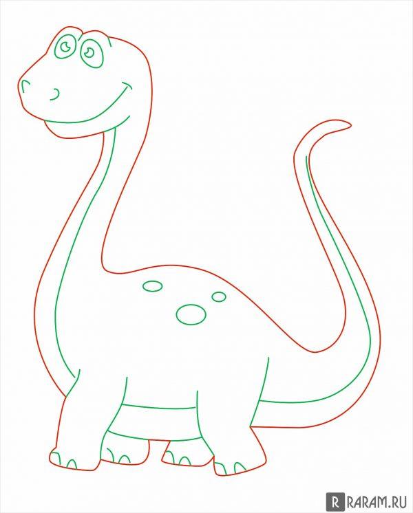 Брахиозавр из мультфильма