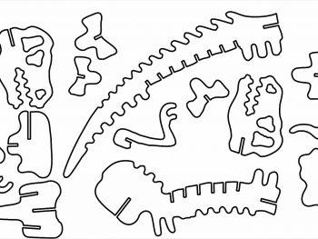 Кость T-Rex на 3 мм