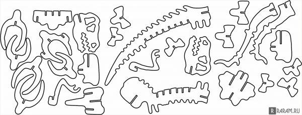 Кость T-Rex 1,5 мм
