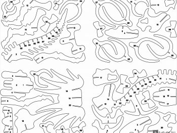 Кости стиракозавра на 1 мм