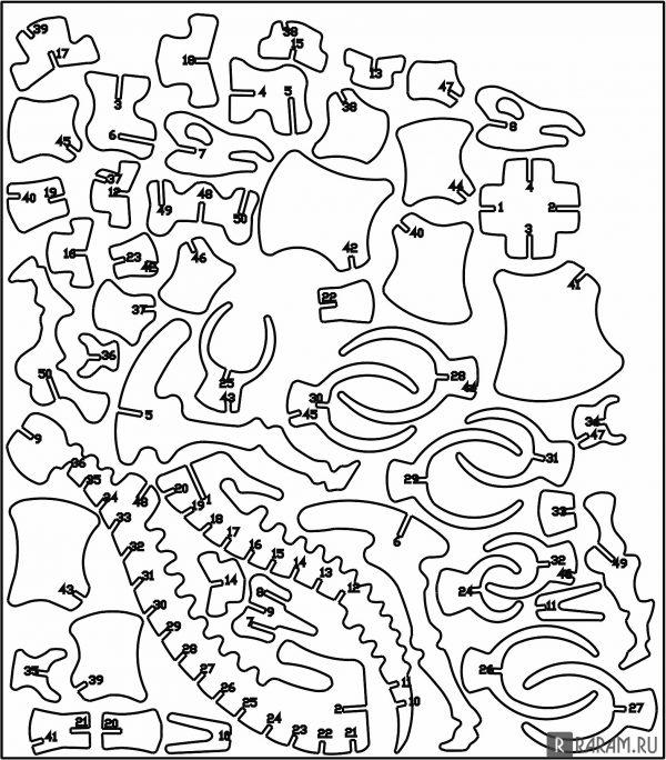 3D стегозавр (часть 2)