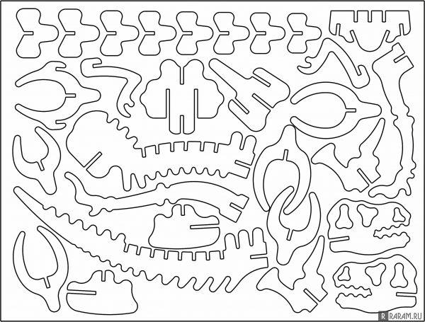 Окаменелость динозавра