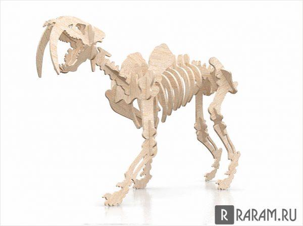3 мм саблезубый динозавр