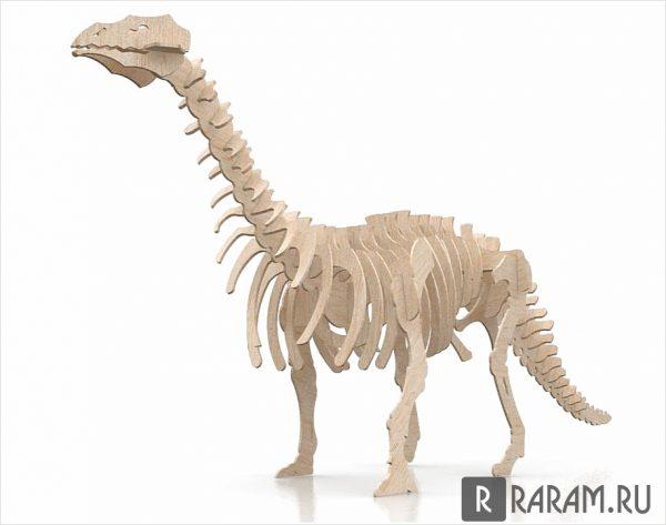 Бронтозавр на 3 мм
