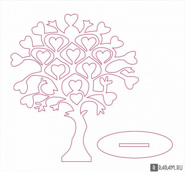 Дерево с листьями в виде сердца