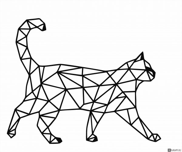 Геометрический кот 4