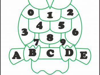 Сова буквы и цифры