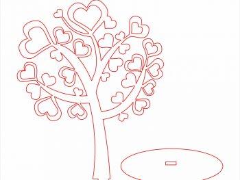 Дерево, Сердце, Листья