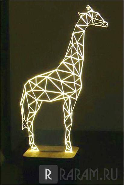 Лампа с жирафом
