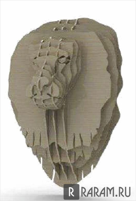 3D голова льва