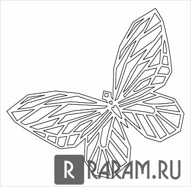 Бабочка с распростертыми крыльями 2