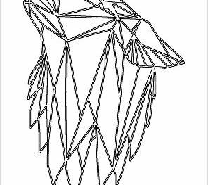 Воющая голова волка