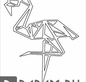 Фламинго в профиль
