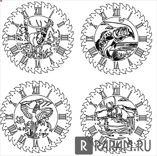 Часы с животными 3