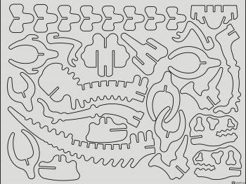 Трехмерный тираннозавр