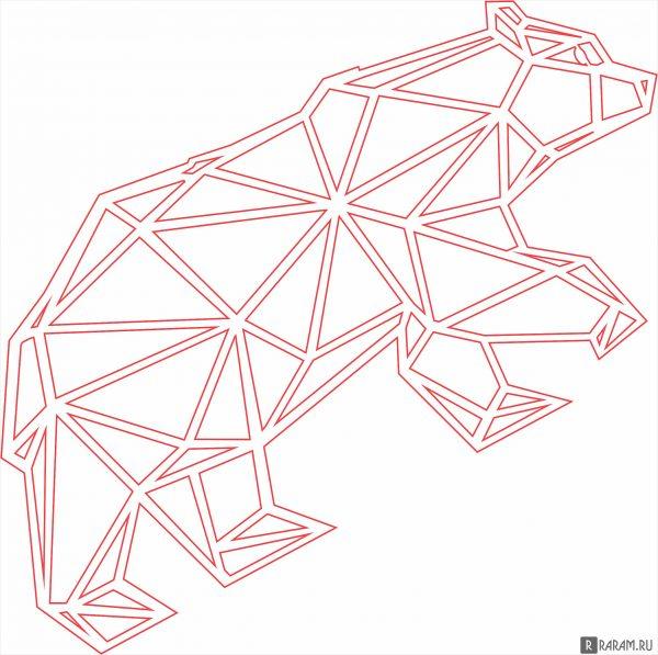 Геометрический медведь в полный рост