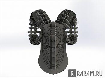 Голова барана в 3D
