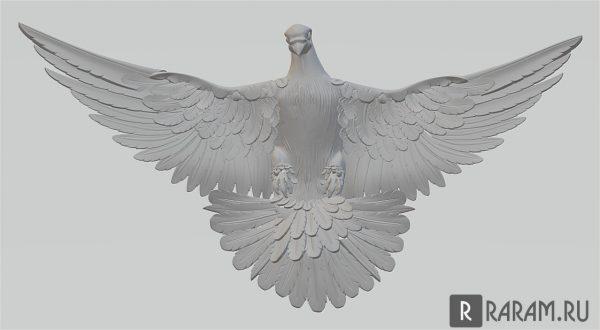 3D голубь