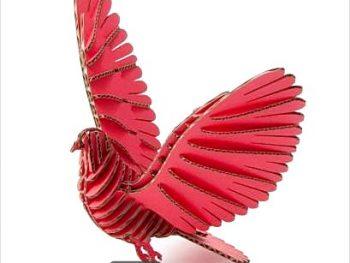 3D крылатый голубь