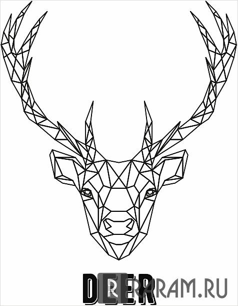 Геометрический олень