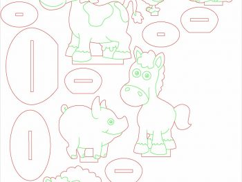 Домашний скот на подставке