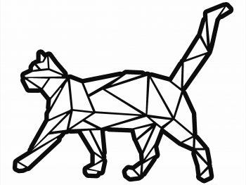 Геометрическая кошка 5
