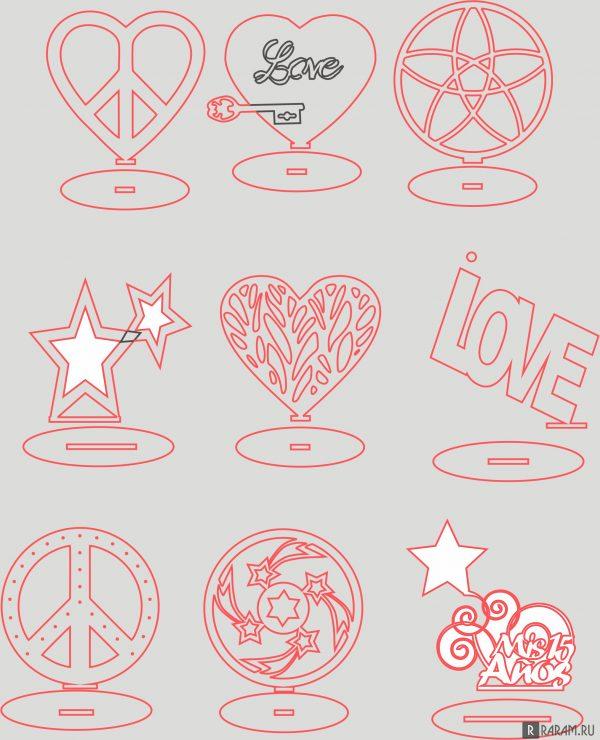 Мир и любовь - украшения на подставке