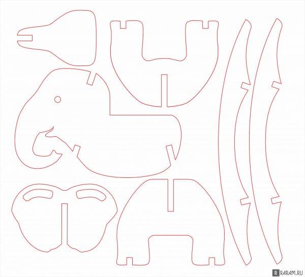 Кресло-качалка в виде слона
