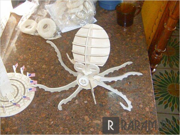 3D осьминог