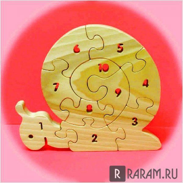 Головоломка с числами в форме улитки