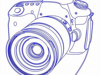 Топпер в виде фотокамеры
