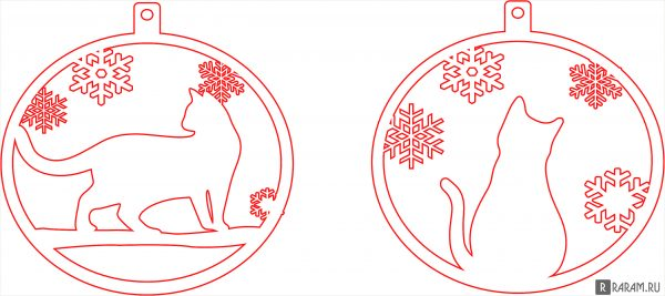 Елочный шар с кошками