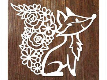 Лиса с цветочным хвостом