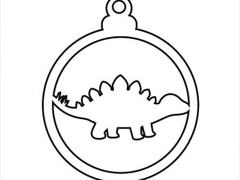 Елочный шар с динозавром 8